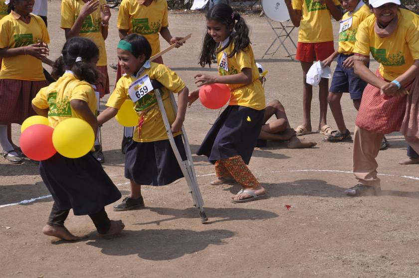 Children participating in the Specially_Abled_Games_India-children with disabilities