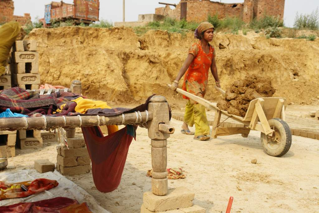 A woman working in a village-second wave covid