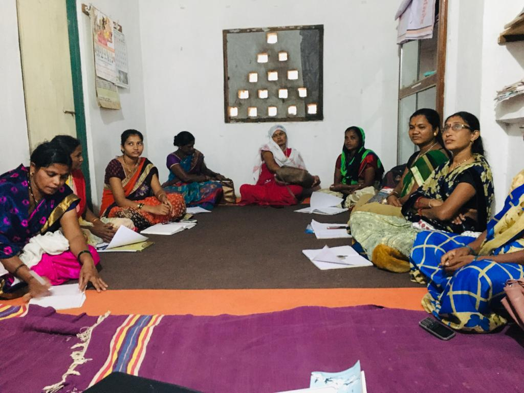 Women gather for a meeting-farmer producer company