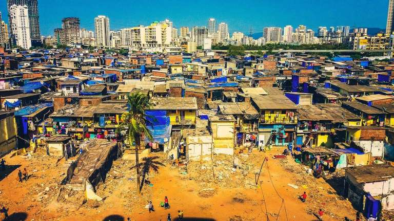 Aerial view of slums-COVID-19