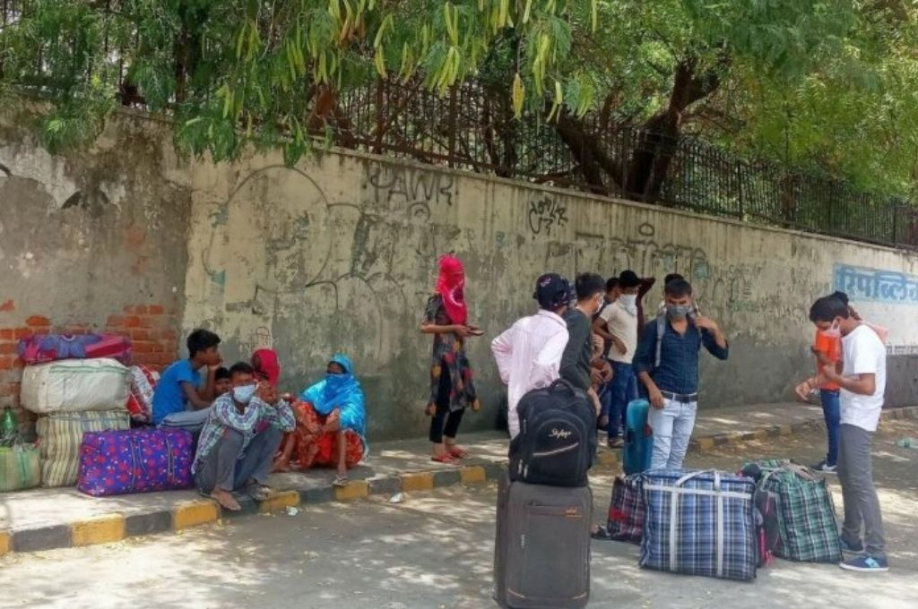 Stranded migrant workers during fourth phase of the lockdown