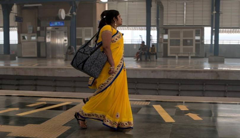women-walking-on-the-platform-at-delhi-metro-urban employment scheme_picture courtesy flickr