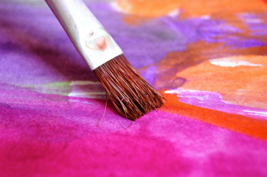 Close up of brush on watercolour sheet_pixabay_blended finance in India
