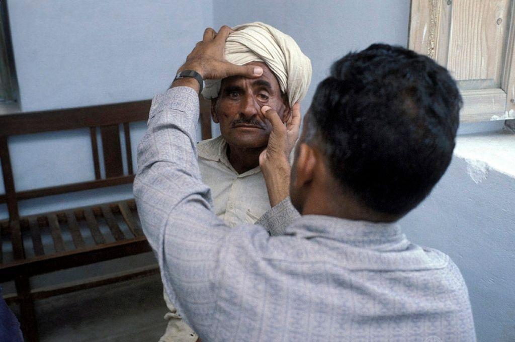 A-man-getting-his-medical-check-up-Ayushman Bharat