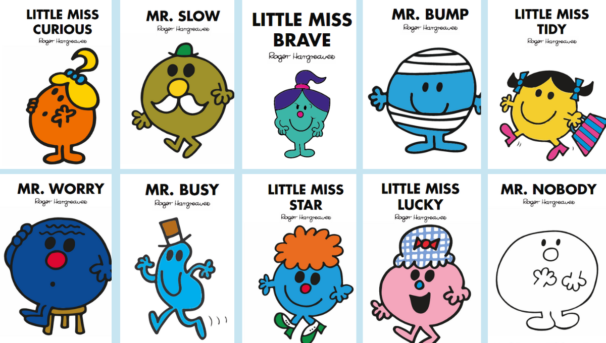 Mr Men and Little Miss Characters_IDR humour