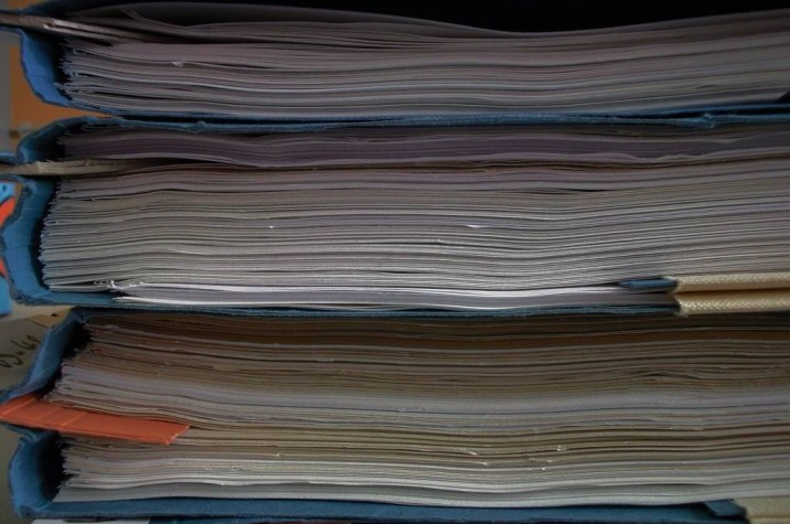 Stack of files with papers-FCRA