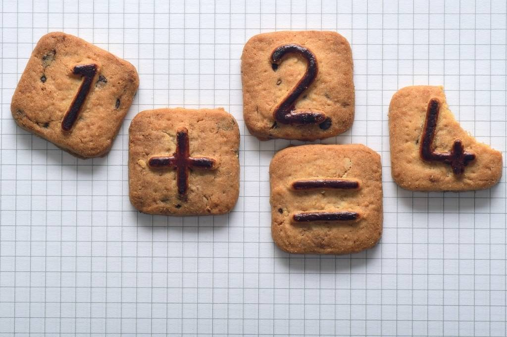 cookies labelled with numbers that depict an addition error of '1+2=4'-nonprofit technology