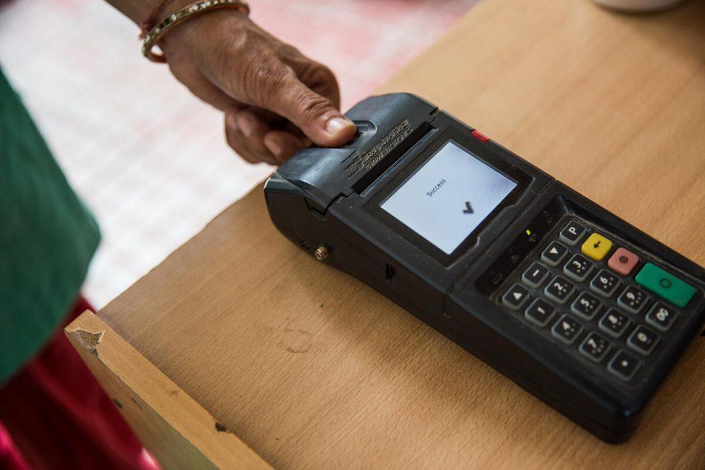 Using biometric technology for verification during ration distribution-digital social welfare